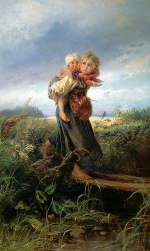 Маковский Константин Егорович. Дети, бегущие от грозы