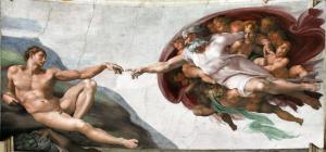 Микеланджело. Сотворение Адама