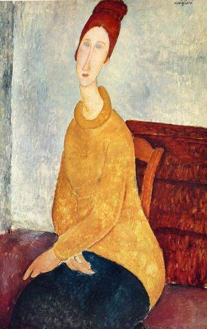 Амедео Модильяни. Портрет Жанны Эбютерн в желтом свитере